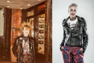 Lesley Edgar 1970 und heute. Fotocredit: Museum of London