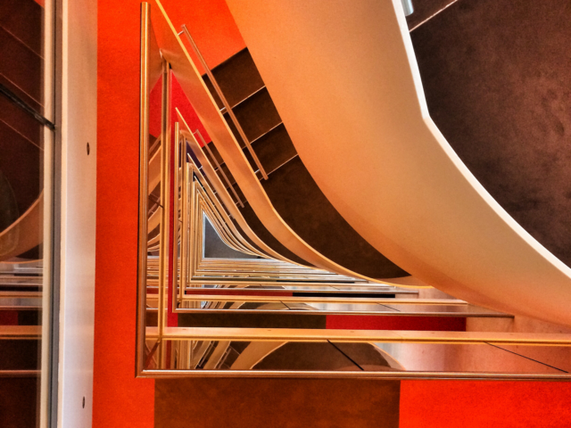 Treppenhaus, Hotel in Amsterdam. Foto: Jan Graber, 2014.