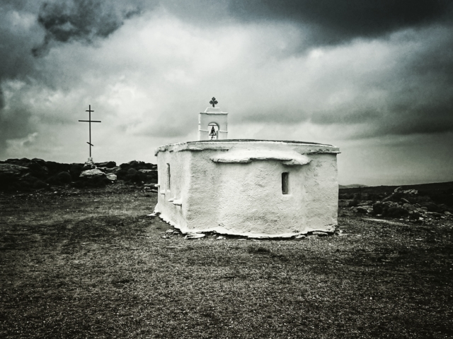 Kreuzweise XII. Kapelle auf Andros. Foto: Jan Graber, 2018.