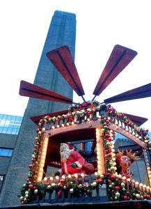 Am Weihnachtsmarkt vor der Tate Modern, London. Foto: jag, 2016.