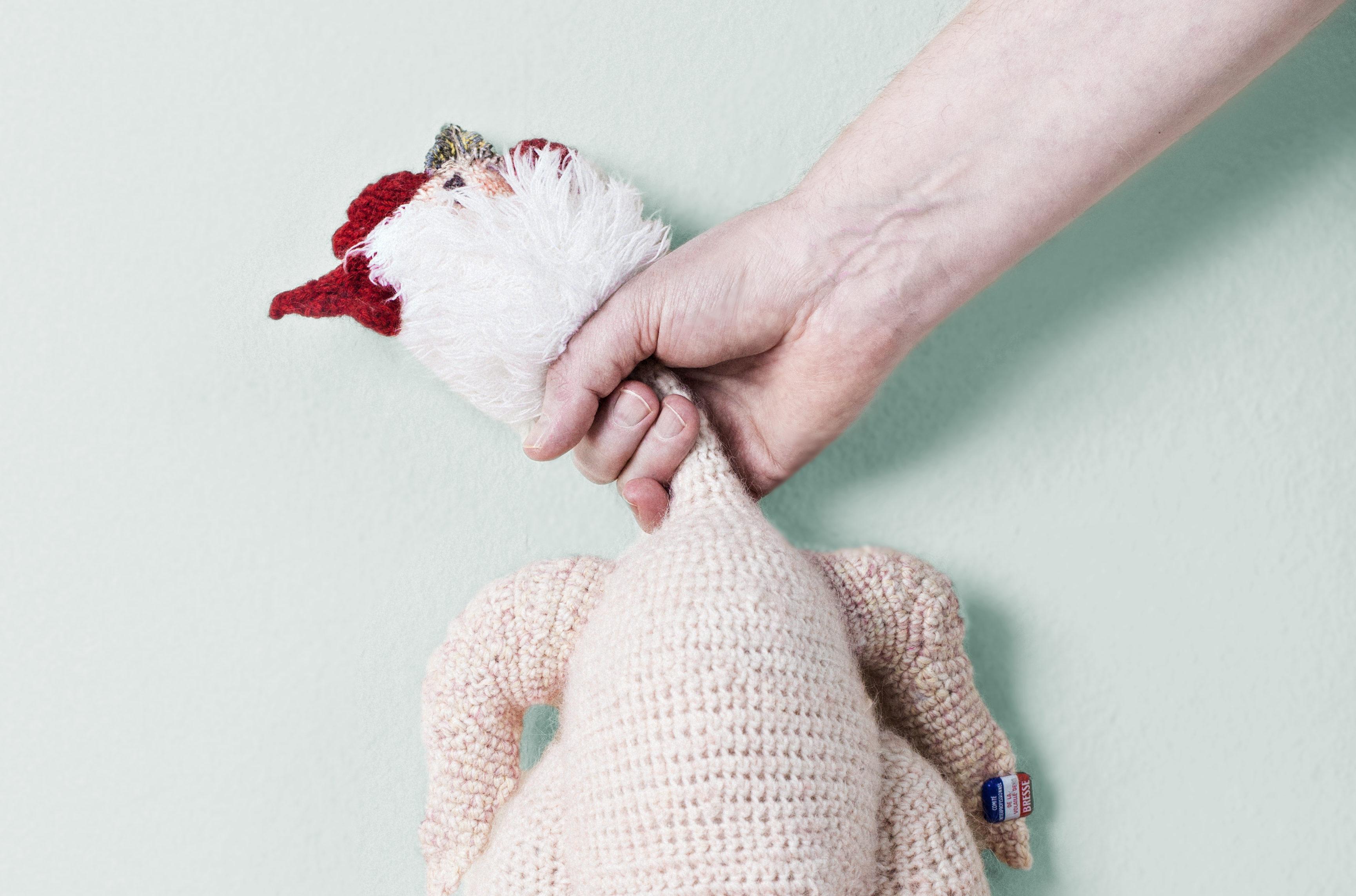Diesem Huhn gehts an die Gurgel. (Bild: Mojca Vidmar)