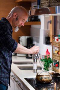 Scherer: «Ich koche stets aus dem Handgelenk». (Foto: Claudia Link)