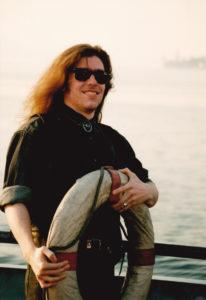 Martin auf dem Zürichsee, 1990. Foto: Jan Graber.