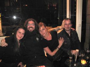 Martin mit Sara Schär, Severine Spielmann und Boris Müller, 2006.