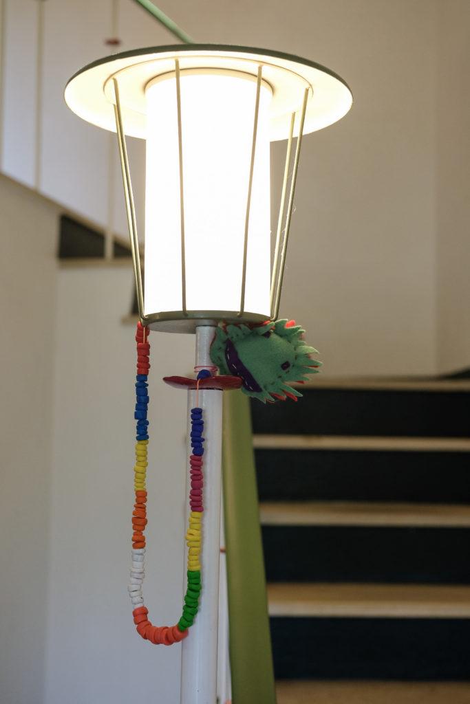 Designlicht: Lampe im Eingangsbereich.