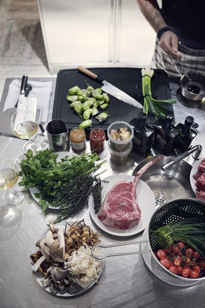 Mis en place: Gute Vorbereitung ist für Menz das halbe Kochen. Foto: Christine Benz, 2018.